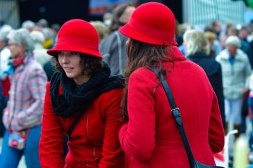 Rode hoedjes